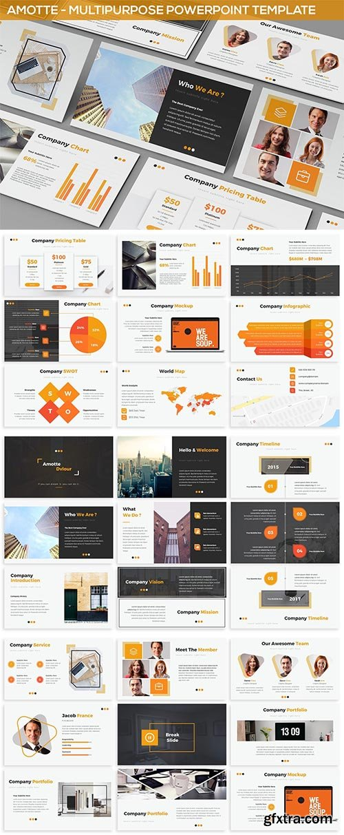 Amotte - Powerpoint Presentation Template