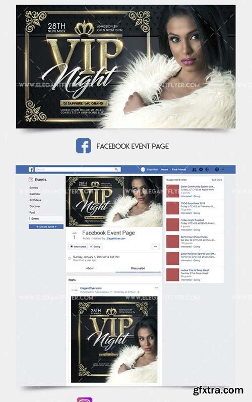 VIP Event V1 2018 Facebook Event + Instagram template + YouTube