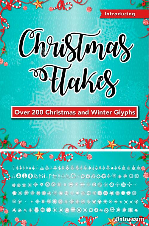 Christmas Flakes Font