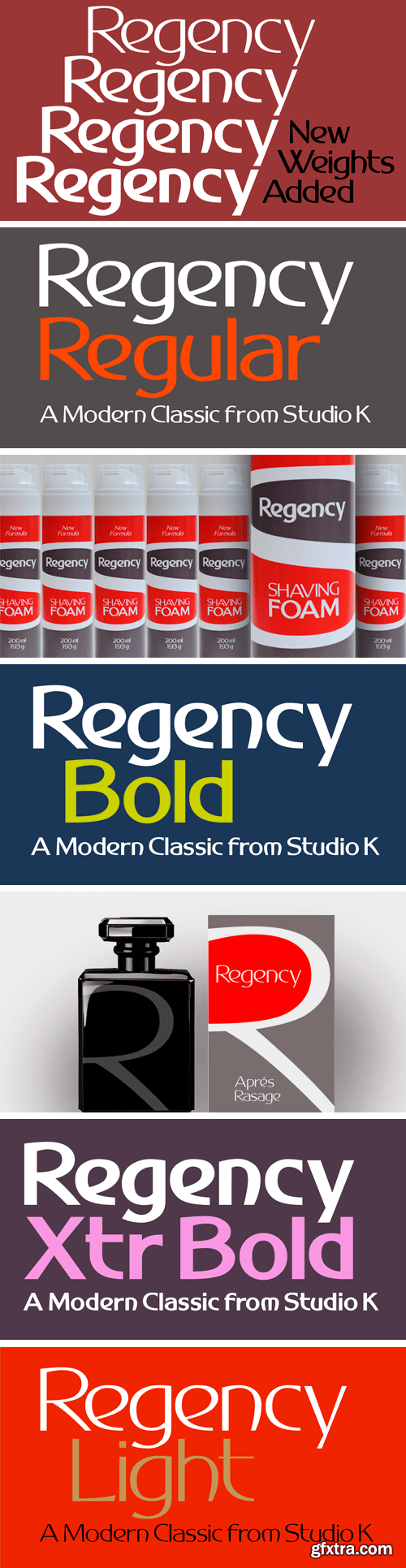 Regency Font Family