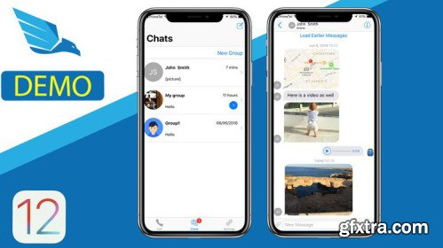 Udemy - iOS12 Chat, Learn Swift 4.2, build iOS 12 Chat Application