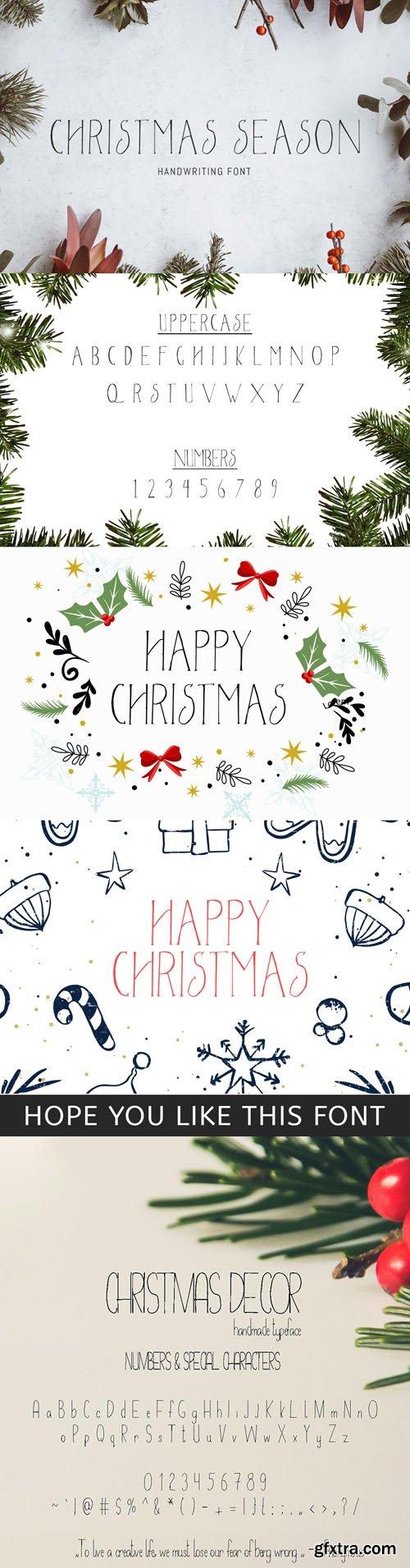 Christmas Season & Christmas Decor Handwriting Fonts