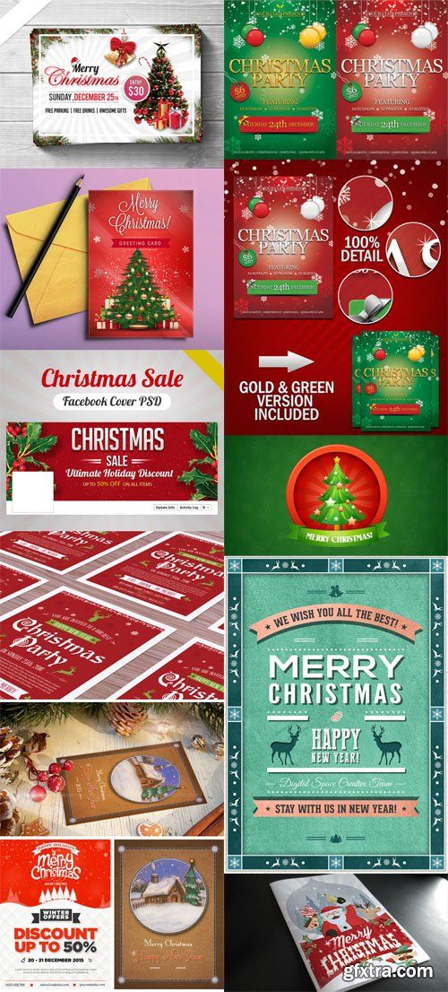 Christmas & New Year Flyers Collection 1
