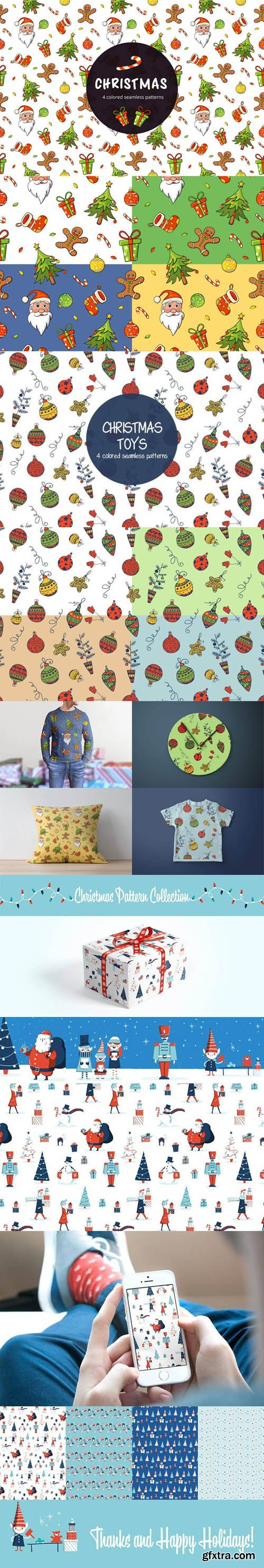 Christmas Patterns Vector Collection 2