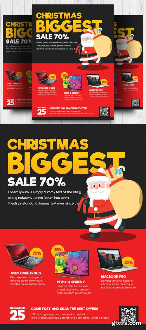 Christmas Biggest Sale Flyer PSD Template