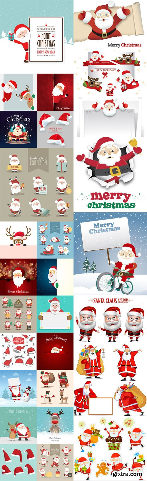 Santa Claus Characters Vector Collection 1