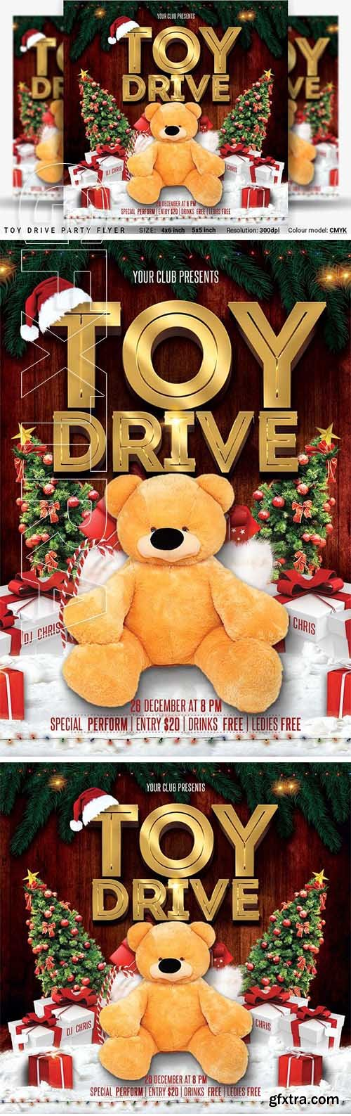 CreativeMarket - Toy Drive Party Flyer 3248281