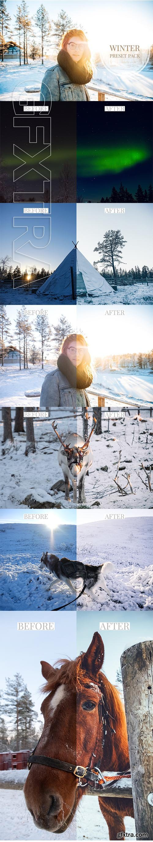 CreativeMarket - Lightroom Presets Winter & Snow 3212007