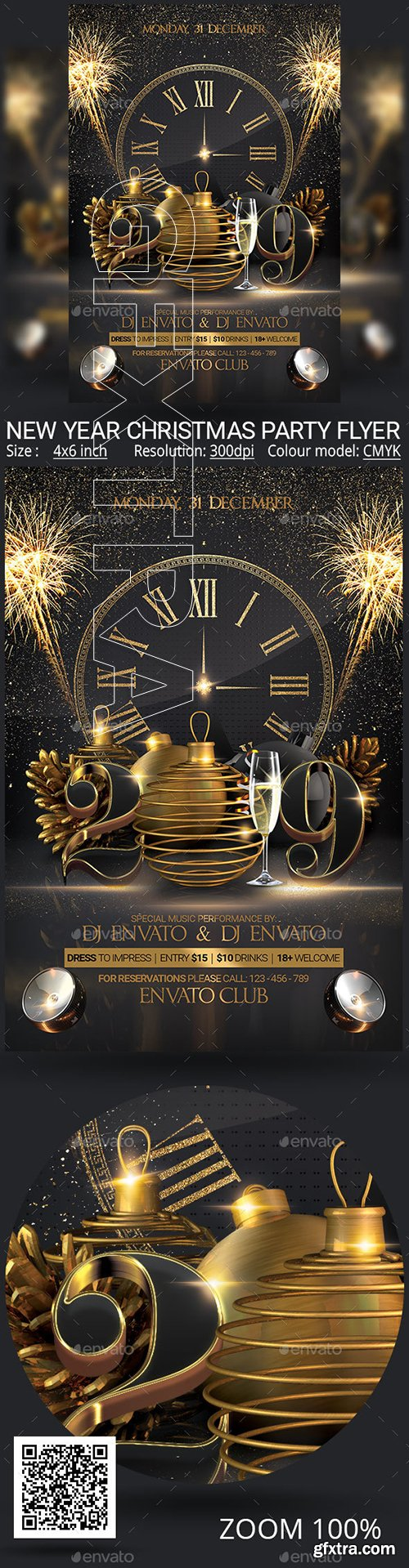GraphicRiver - New Year Christmas Party Flyer 22951657