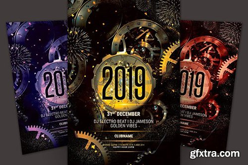 CreativeMarket - New Year Flyer 3251603