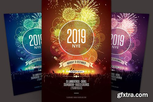 CreativeMarket - New Year Flyer 3236480
