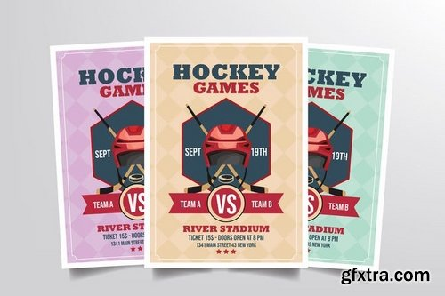 Hockey Games Flyer Template