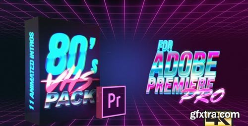 Videohive - 80\'s VHS Intro Pack | MOGRT for Premiere Pro - 21825551