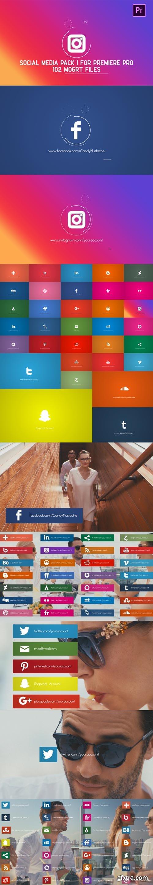 Videohive - Social Media Pack | MOGRT for Premiere PRO - 21836967