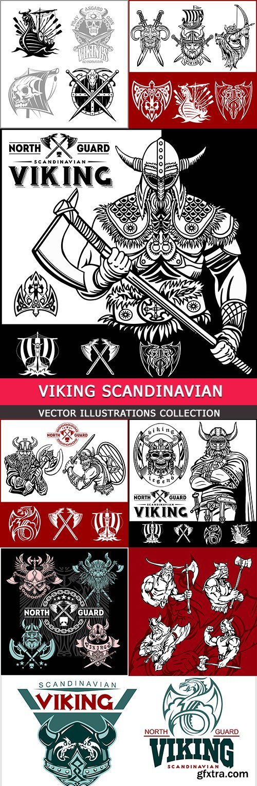 Viking Scandinavian soldier weapon and protective board
