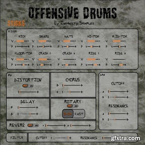 Insanity Samples Offensive Drums KONTAKT-SYNTHiC4TE