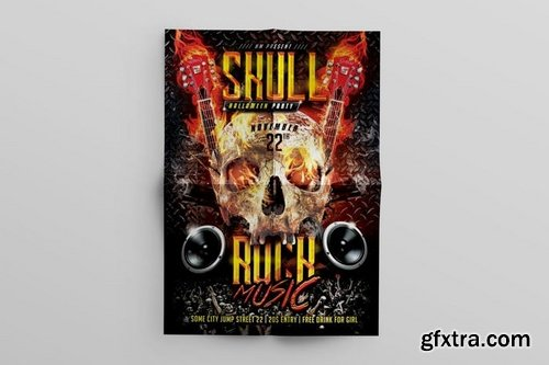 Skull Rock Music Flyer