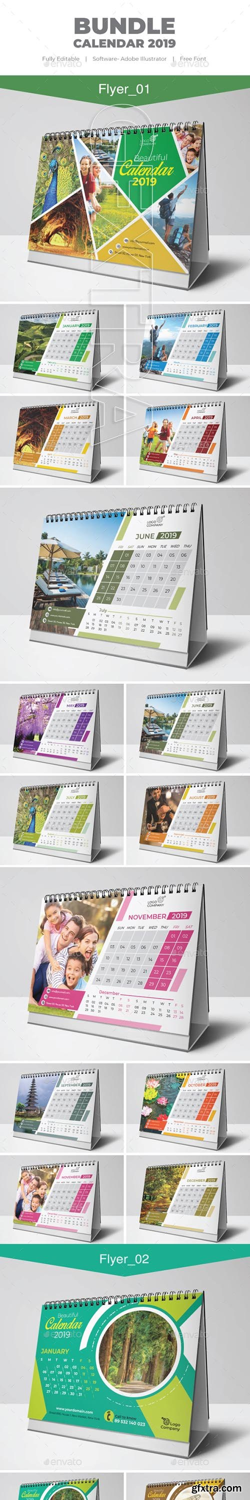 GraphicRiver - Bundle Calendar 22881421