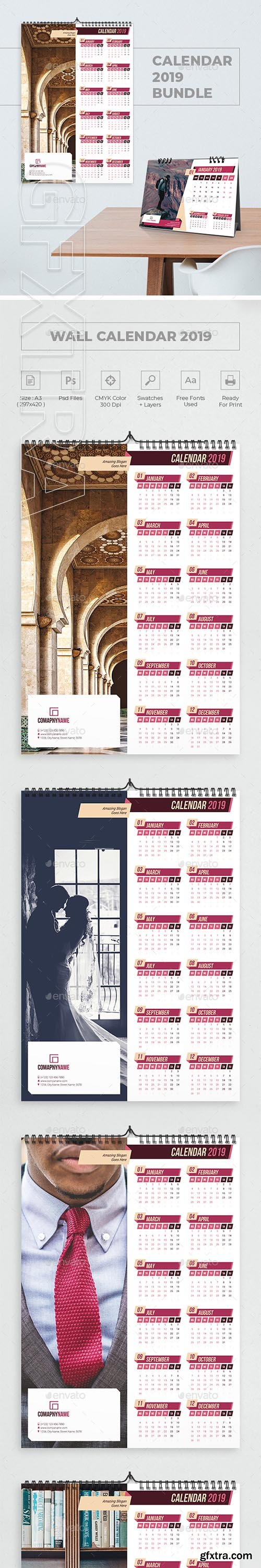 GraphicRiver - Calendar 2019 Bundle 6 22929965