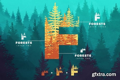 CM - Forests Layered Font 3106851