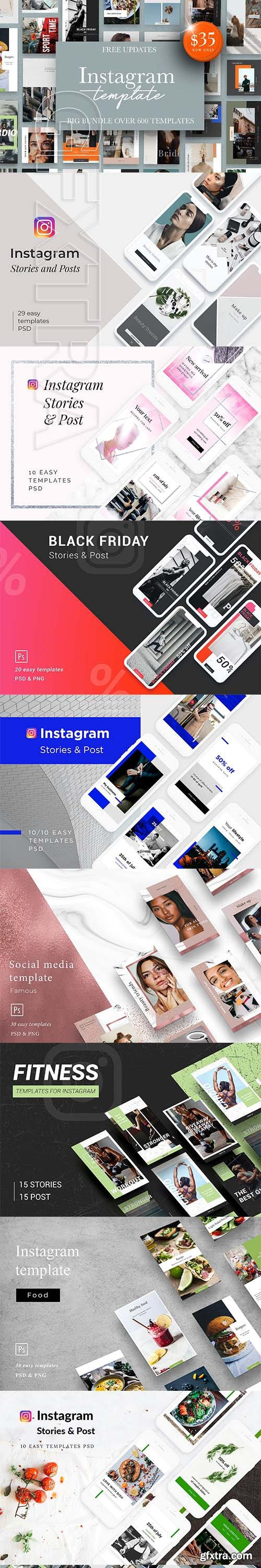 CreativeMarket - Instagram Bundle 25in1 + Free Update 3190185