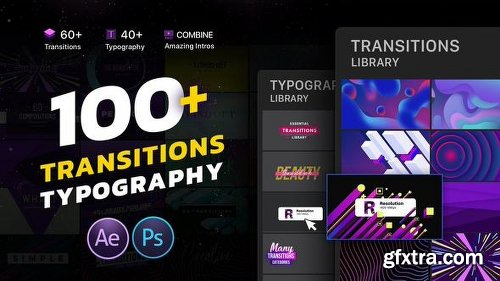 Videohive Transitions & Typography Library 22551659
