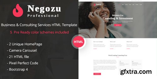 ThemeForest - Negozu v1.0 - Business and Consulting Services HTML Template - 22539890