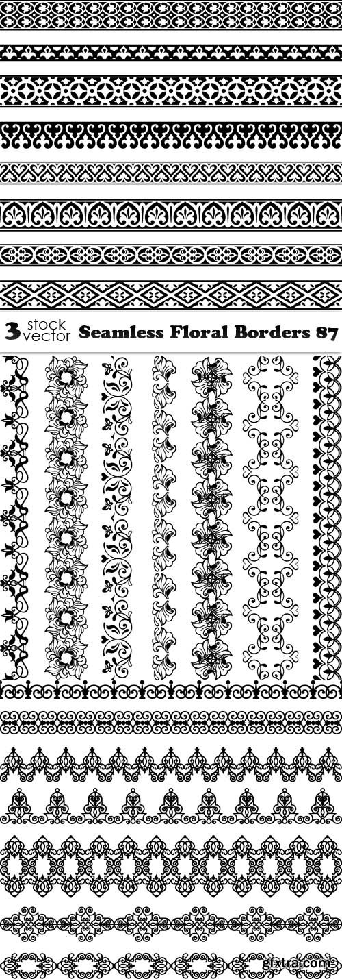 Vectors - Seamless Floral Borders 87