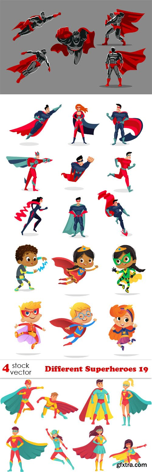 Vectors - Different Superheroes 19