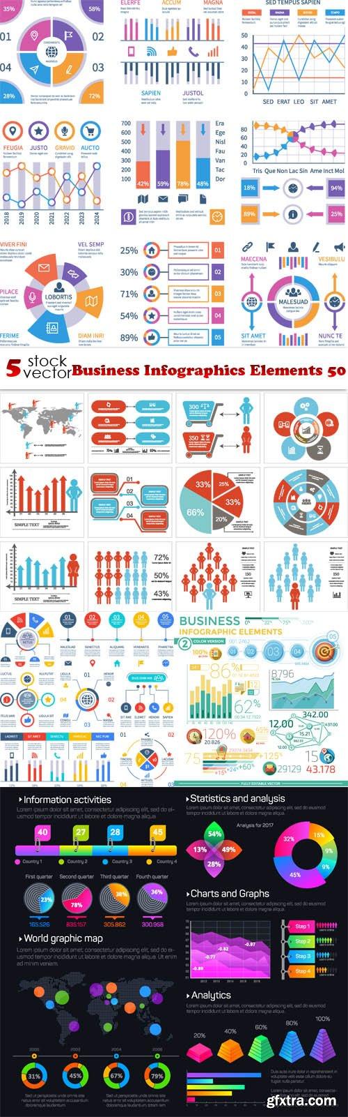 Vectors - Business Infographics Elements 50