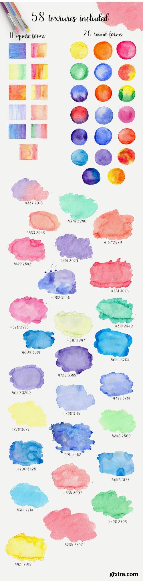 Designbundles - Watercolor Textures 10339