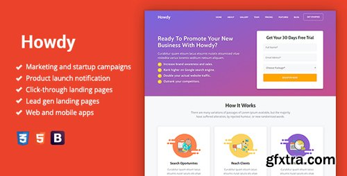 ThemeForest - Howdy v1.0 - Multipurpose High-Converting Landing Page Template - 22610725