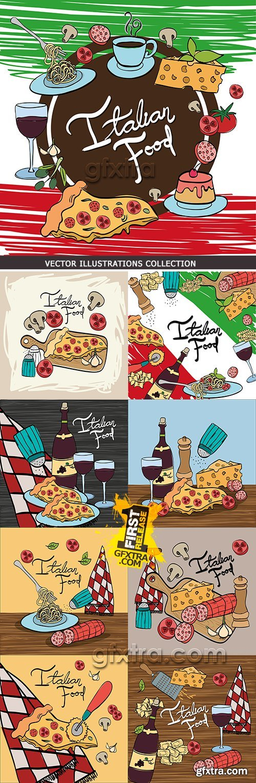 Italian cuisine menu restaurant for gourmet