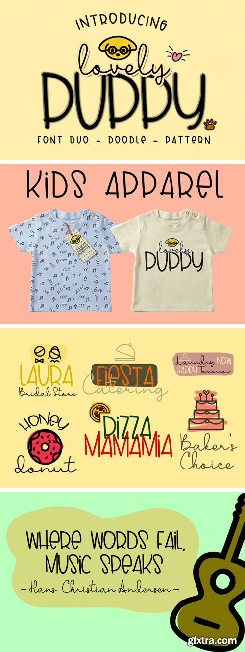 Fontbundles - Lovely Puppy - Font Duo with Bonus 177594