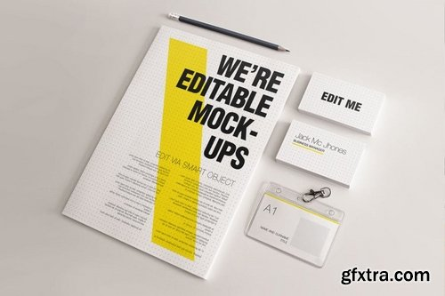 Realistic Stationery Mock-up Set 3- Corporate ID