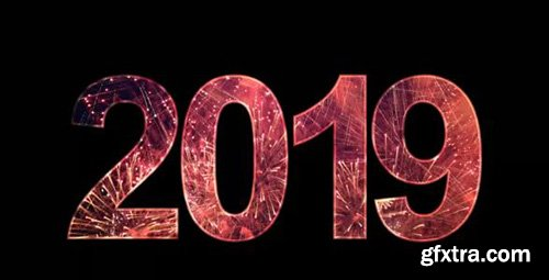 2019-2021 Text With Fireworks Pack - Motion Graphics 146460