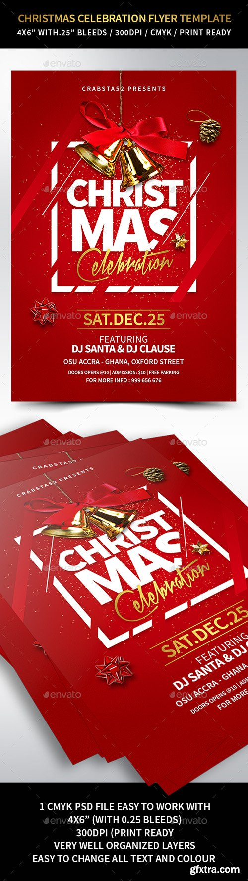 Christmas Celebration Flyer Template 22931714