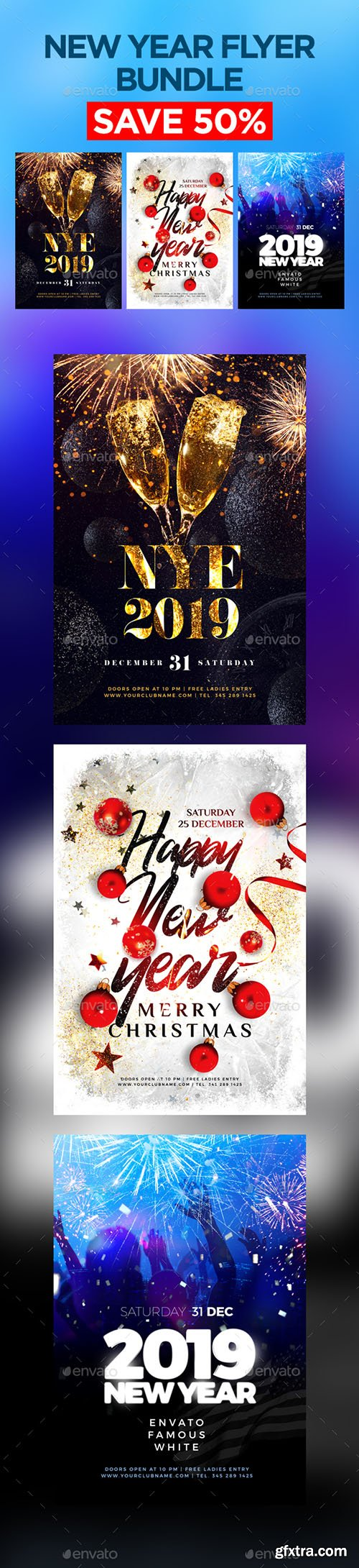 New Year Flyer Bundle 22930630
