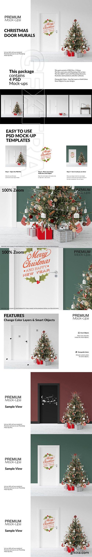 CreativeMarket - Christmas Door Murals Set 3234152