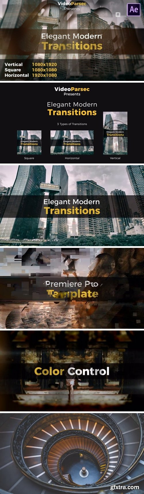 MA - Elegant Modern Transitions After Effects Templates 149121