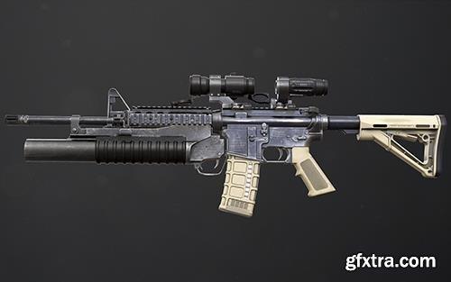 Cubebrush - Rifle M4A1