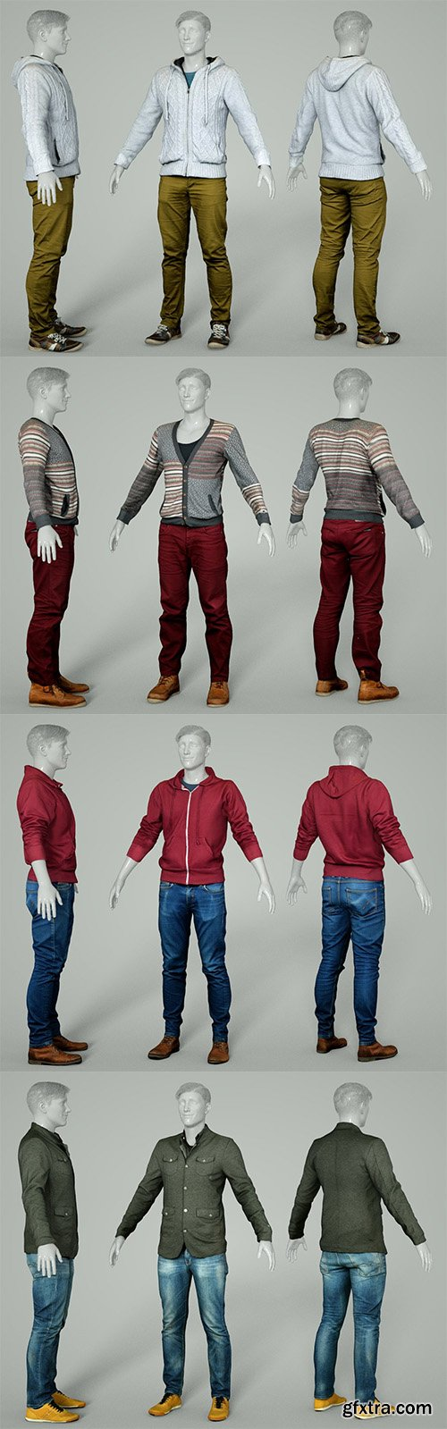 Cubebrush - Male Clothing Collection 1