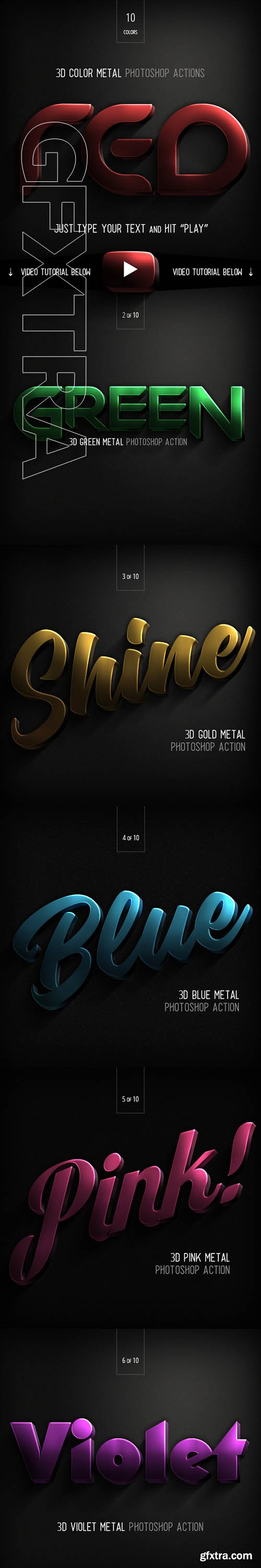 GraphicRiver - 3D Color Metal - PS Actions 22968543