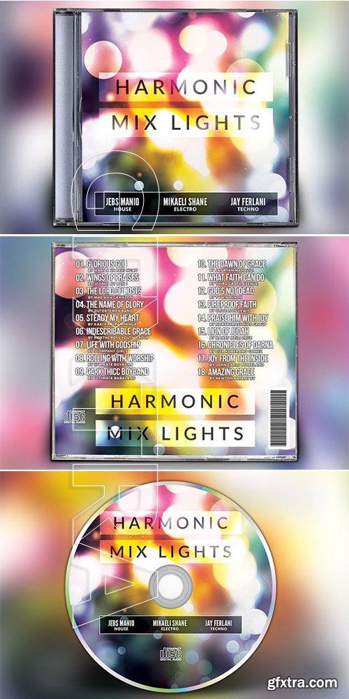 CreativeMarket - Harmonic Mix Lights CD Album Artwork 3199340