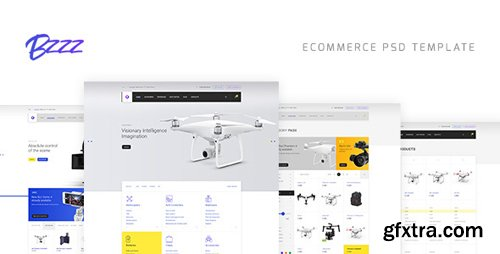 ThemeForest - Bzzz v1.0 - Gadgets eCommerce PSD Template - 19917509