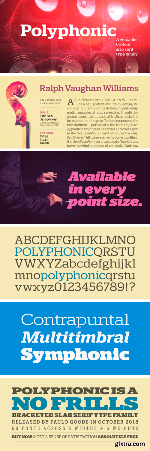 Polyphonic Font Family