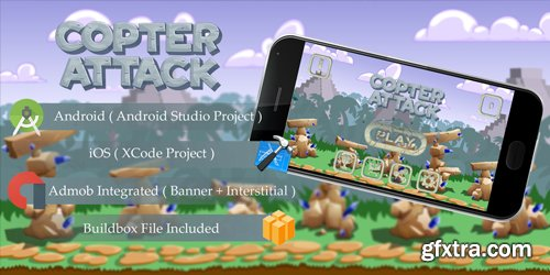 CodeSter - Copter Attack v1.0 - Buildbox Template - 6003