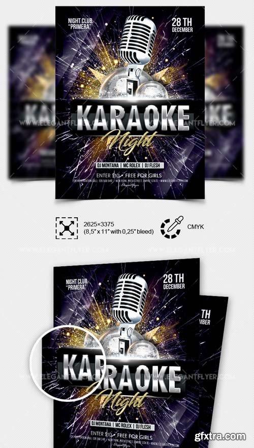 Karaoke Night V60 2018 Flyer PSD Template