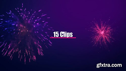Festive Fireworks Collection - Motion Graphics 141692