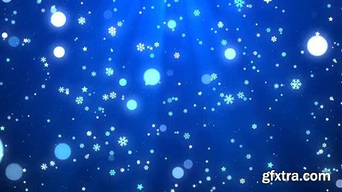 Blue Christmas Snowflakes - Motion Graphics 142630